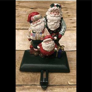 Vintage Cast Iron Santa Stocking Holder